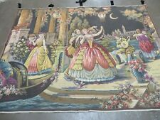 4' x 6' TAPESTRY French European Hand Loom Victorian Beauty Easy Wall Hanging