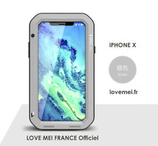 Coque Antichoc blindée iPHONE X - LOVE MEI FRANCE - étanche - Gris