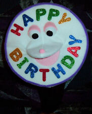 Talking Birthday Cake Ventriloquist Puppet w/ moving mouth-clowns,VBS ministry