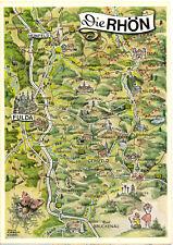 AK, Fulda, Landkarte der Hessischen Rhön, um 1975