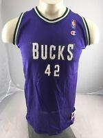 93729bff4 Vintage Milwaukee Bucks  42 Baker Jersey XL Champion NBA Basketball purple