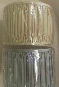 "12"" Diamante Drum Lamp -Shade PINCH PLEAT-With Diamantes Ceiling Light Shade"
