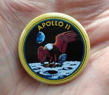 38mm pin badge depicting Apollo 11's mission patch for 1969 moon landing Epic !!