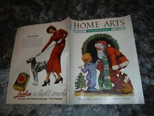 HOME ARTS NEEDLECRAFT DEC 1936 XMAS NEEDLE MADE GIFTS, WOOL PICTURE ,CROCHET,