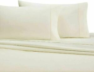 Wamsutta 350-Thread-Count Egyptian Cotton Sateen Full Sheet Set in Ivory, NEW