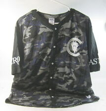 Crooks and Castles The Slugger Baseball Jersey in Black Woodland Camo SIZE XL/TG