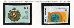 19163) UNITED NATIONS (New York) 1981 MNH** Volunteers Progr.