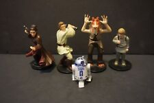 Lot of 5 1999 Star Wars Phantom Menace Applause Figures & Cake Toppers