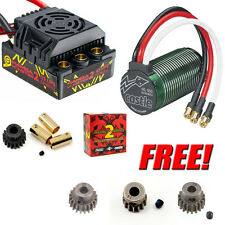 Castle Creations 1/8 Mamba Monster 2 Waterproof ESC 2200kV + Free Traxxas Pinion