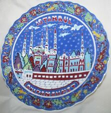 Decorative Istanbul Plate Cobalt Colorful ~ Approx. 10 1/2""