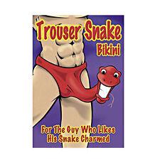 Male Power Trouser Snake Bikini Sexy Underwear for Men, PAK-712 Red