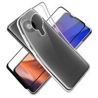 SDTEK Coque pour Nokia 5.3 + Protection écran Complet Verre Cover