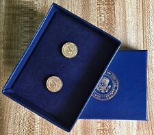 "President Bill Clinton ""WORLD'S RAREST PRESIDENTIAL SEAL"" White House Cufflinks"