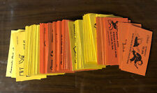 Monopoly board game Parts Lot Of Chance And Community Chest Cards 100+