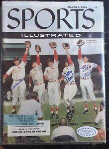 March 5, 1956 Sports Illustrated  Cardinals Bill Virdon / Wally Moon/Stan Musial