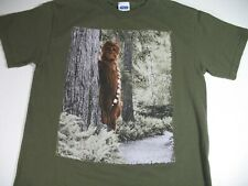 Vintage Star Wars Chewbacca Adult Small T-Shirt Green Short Sleeve Crew Neck