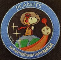 SNOOPY PEANUTS NASA SPACE PATCH - MOON CAMPAIGN - IN PARTNERSHIP WITH NASA -3.5""