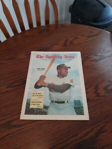 MAY 23,1970-THE SPORTING NEWS-HANK AARON OF THE ATLANTA BRAVES(MINT)