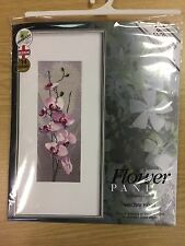 "John Clayton Flor Panel ""Orquídea"" Cross Stitch Kit Heritage Crafts RRP £ 35"