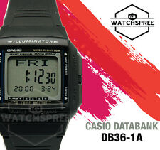 Casio Data Bank Watch DB36-1A AU FAST & FREE