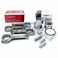 Wiseco Pistons 100mm Bore Manley Rods Kit for 06-14 Subaru WRX 04+ STi EJ25
