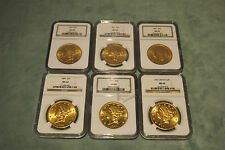 NGC MS62 SET OF 6 LIBERTY $20 GOLD COINS (DIFFERENT YEARS)PRICE IS FOR 1 ONLY