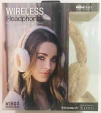 NoiseHush BT500 Bluetooth Snuggy Beats Headphones with Built-in Controls - Brown