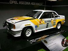 OPEL ASCONA 400 #6 RALLYE MONTE CARLO de 1981 au 1/18 SUN STAR 5366 voiture