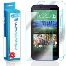 2x iLLumi AquaShield HD Front Screen + Back Panel Protector for HTC Desire 510