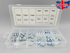 70Pcs Hydraulic Metric /imperial Threads Grease Nipple Kits Straight & Angled