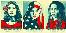 3 x nous le peuple usa femme mars shepard fairey A4 photo brillant poster new