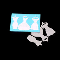 Stanzschablone Kleid Abendkleid Weihnachts Hochzeit Oster Geburstag Karte Deko