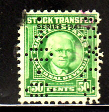 #RD102      50  CENTS   STOCK TRANSFER      REVENUE STAMP         USED       f