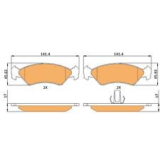 Braymann Front Brake Pads Set BBP0430 - BRAND NEW - GENUINE - 2 YEAR WARRANTY