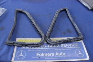 Mercedes  2 NEW rubberseal 3 edge window door front L+R ponton 180 190 220S