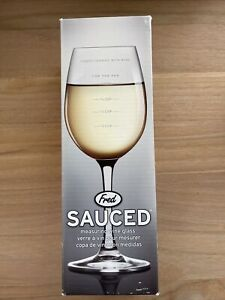 FRED AND FRIENDS FRED SAUCED MEASURING WINE GLASS NEW Christmas Gift