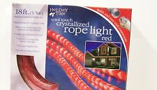 Cool Touch Red 18 foot Rope Light Set flexible more energy efficient w mounts
