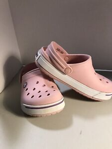 Crocs Pink Classic Clog Size Kids Size J1 Junior Preowned/used