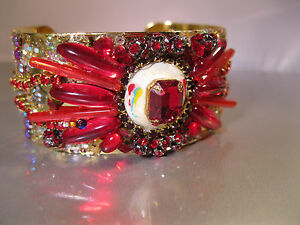 """GORGEOUS SPARKLING CUFF BRACELET"" 1-OF-A-KIND CUFF BRACELET- DESIGNED/MADE  USA"