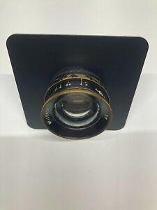 "ROSS wide-angle 5"" brass camera lens"