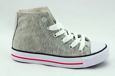 Mens Womens Boys Girls Kids Childrens Casual Canvas Hi Top Trainers Shoes Pumps