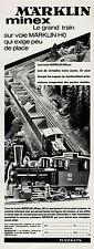 PUBLICITE  JOUET ANCIEN  TRAIN ELECTRIQUE   MARKLIN    OLD TOY  AD  1970