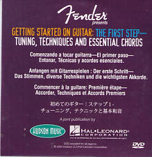 New! Fender Presents: Getting Started on Guitar: The First Step - Dvd Video