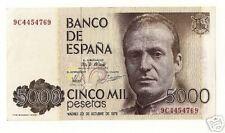 CURIOSO BILLETE SERIE ESPECIAL 9C.5000 PTS 1979.MBC+