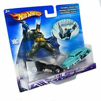Hot Wheels 1/64 Diecast Batman 2 Pack Car Set Batman vs Mr Freeze NIB
