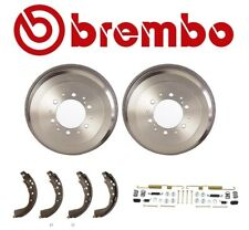 2-Brembo Rear Brake Drums & Enduro Shoe & Hardware kit For Toyota 4Runner Tacoma