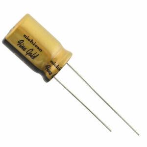 "100uf @ 16VDC, Nichicon UFG Series ""Fine Gold"" Audio Grade Electrolytic Capac..."