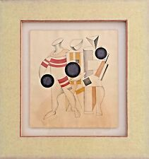 Lissitzky El  Russian Avant-garde. watercolor on paper Hand Signed