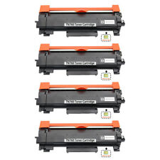 4 PK TN760 TN730 Toner Cartridge (With CHIP) for Brother HL-L2395DW MFC-L2710DW