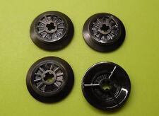 Lego ferrocarril: 4 pequeñas RC ruedas con goma para, p. ej., 10194 7898 60098 7938